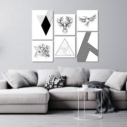 Kit 6 Placas Decorativas Animais Flores Geométrico... - Q! Bacana