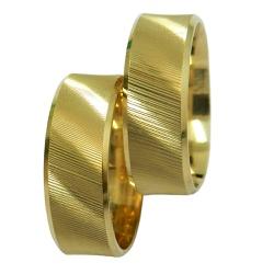 Alianças em Ouro 18k Frisadas - 210222000 - RDJ JÓIAS