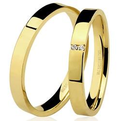 Alianças de ouro para noivado ou casamento - 7500... - RDJ JÓIAS