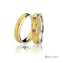 Aliança de Casamento ou Noivado em Ouro 18k Com Br... - RDJ JÓIAS
