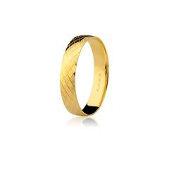 Par de Alianças Diamantadas em Ouro 18K - 7502632... - RDJ JÓIAS