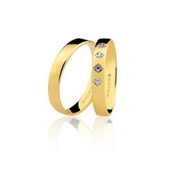 Aliança em Ouro 18k Com Brilhante - 7603152006 - RDJ JÓIAS