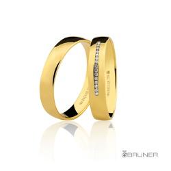 Alianças para casamento em Ouro 18k 0,750 Com Bril... - RDJ JÓIAS