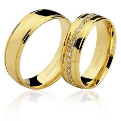 Lindas Alianças de Casamento em Ouro 18K - 7503082... - RDJ JÓIAS
