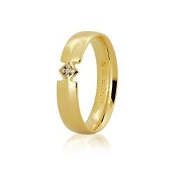 Aliança de Casamento em Ouro 18k com Brilhantes -... - RDJ JÓIAS