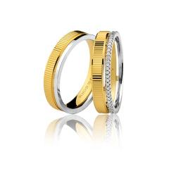 Aliança de Casamento ou Noivado em Ouro 18k - 7502... - RDJ JÓIAS
