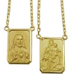 Escapulário em Ouro 18K com Corrente Cartier - J0... - RDJ JÓIAS