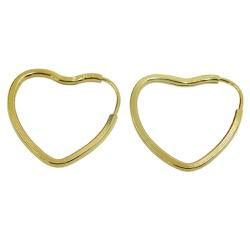 Argola em Ouro 18k Coração - J01800685 - RDJ JÓIAS