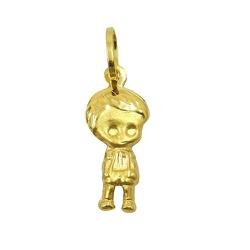 Pingente Menino em ouro 18k - J03100070 - RDJ JÓIAS