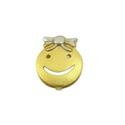 Pingente em ouro 18k Happy Face Menina - J0310037 - RDJ JÓIAS