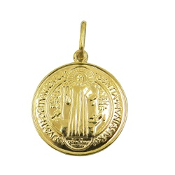 Medalha de São Bento em ouro 18k 0,750 - J0310046... - RDJ JÓIAS