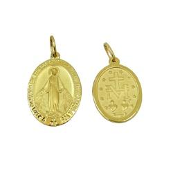 Pingente Medalha de Nossa Senhora das Graças em Ou... - RDJ JÓIAS