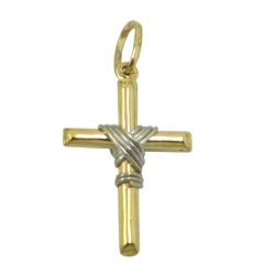 Pingente Cruz em Ouro com Nó - J03100592 - RDJ JÓIAS