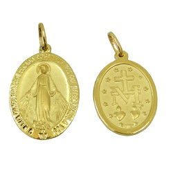 Medalha em Ouro 18k Nossa Senhora das Graças - J03... - RDJ JÓIAS
