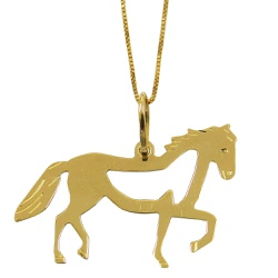 Pingente Cavalo Araguaia em ouro - J03100939 - RDJ JÓIAS