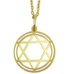 Estrela de Davi Grande em Ouro 18k - J03100995 - RDJ JÓIAS