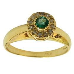 Anel Solitário de Ouro 18K cravejado com Diamantes... - RDJ JÓIAS