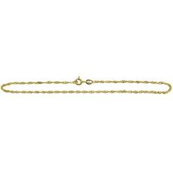 Tornozeleira de ouro 18k Piastrine - J047003311 - RDJ JÓIAS