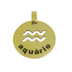 Pingente em Ouro 18k Signo Aquário - J05400506 - RDJ JÓIAS