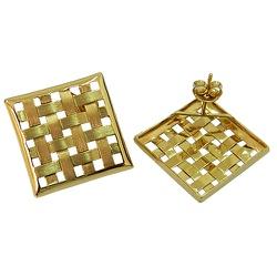Brinco Quadrado em Ouro 18K - J06101173 - RDJ JÓIAS