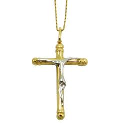 Crucifixo em Ouro 18k Maciço - J06103590 - RDJ JÓIAS