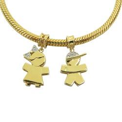 Pingente de ouro 18k Menina Pandora - J06103574 - RDJ JÓIAS