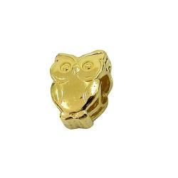 Berloque de Coruja para pulseira Pandora em Ouro 1... - RDJ JÓIAS