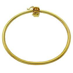 Pulseira estilo Pandora em Ouro 18k - J06104274 - RDJ JÓIAS