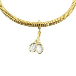 Pingente de Ouro 18k Raquete Pandora - J06104325 - RDJ JÓIAS