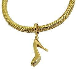 Charm Sapato de Salto Alto em Ouro 18k - J06104394 - RDJ JÓIAS