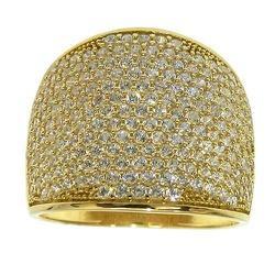 Anel de Ouro com pavê de Zircônias - J06104402 - RDJ JÓIAS