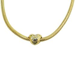 Berloque em Ouro 18k Coração com Patinha - J061044... - RDJ JÓIAS