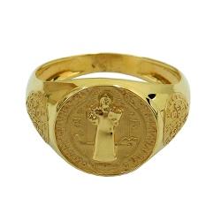 Anel de Ouro 18k São Bento - J06105029 - RDJ JÓIAS