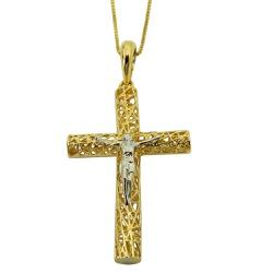 Pingente de ouro 18k Crucifixo Vazado - J06105887 - RDJ JÓIAS