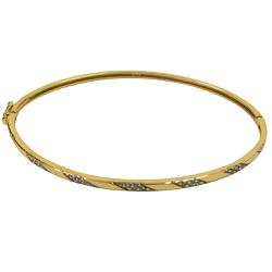 Pulseira Algema em Ouro 18K com Brilhantes - J0620... - RDJ JÓIAS