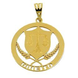 Pingente Profissão Direito em Ouro 18k - J12400052 - RDJ JÓIAS