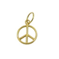 Pingente em Ouro 18k Simbolo da Paz e Amor - J1260... - RDJ JÓIAS