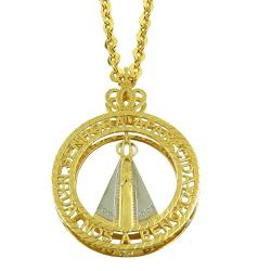 Pingente Mandala Nossa Sra. Aparecida em Ouro 18k ... - RDJ JÓIAS