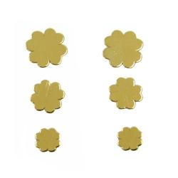 Brinco de Ouro 18k Triplo de Trevo - J12702815 - RDJ JÓIAS