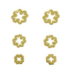 Brinco de Ouro 18k Trio de Trevo Vazado - J1270289 - RDJ JÓIAS