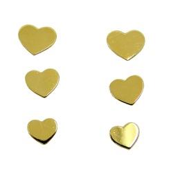 Brinco de Ouro 18k Triplo Coração - J12702903 - RDJ JÓIAS