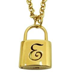 Pingente de ouro 18k Cadeado com Letras - J1270291 - RDJ JÓIAS