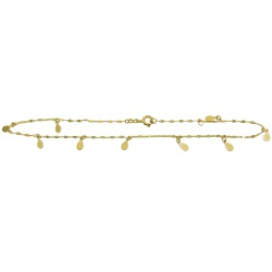 Tornozeleira de Ouro 18k Gotas - J12703148 - RDJ JÓIAS