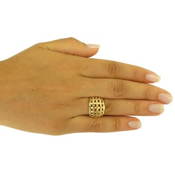 Anel Barato em ouro 18k 0,750 Xadrez - J15301891 - RDJ JÓIAS