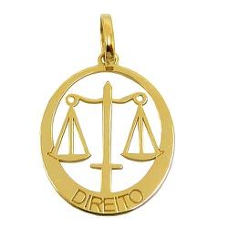 Pingente de Formatura em Direito Ouro 18k - J18000... - RDJ JÓIAS