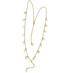 Gargantilha de Ouro 18k com Crucifixos - j18001133 - RDJ JÓIAS