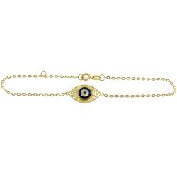 Pulseiras de Ouro 18k com Olho Grego - J18200182 - RDJ JÓIAS