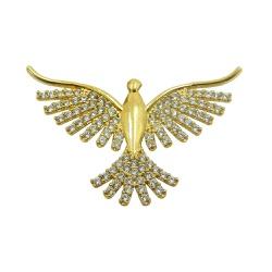 Pingente em Ouro 18k Pomba do Divino Espírito Sant... - RDJ JÓIAS
