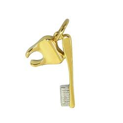 Pingente de Formatura em Ouro 18k Odontologia - J1... - RDJ JÓIAS