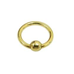 Piercing em Ouro 18k Argola de Bolinha - J18900075 - RDJ JÓIAS